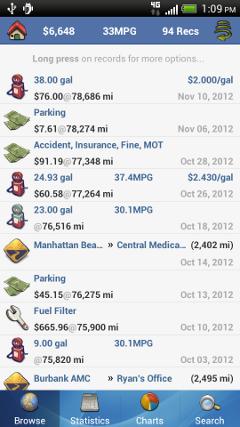 aCar Car Maintenance Apps