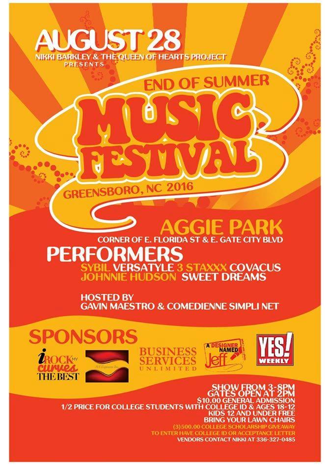 Greensboro End of Summer Music Festival