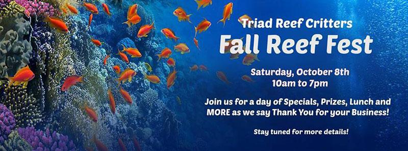 Greensboro Triad Reef Critters Fall Fest