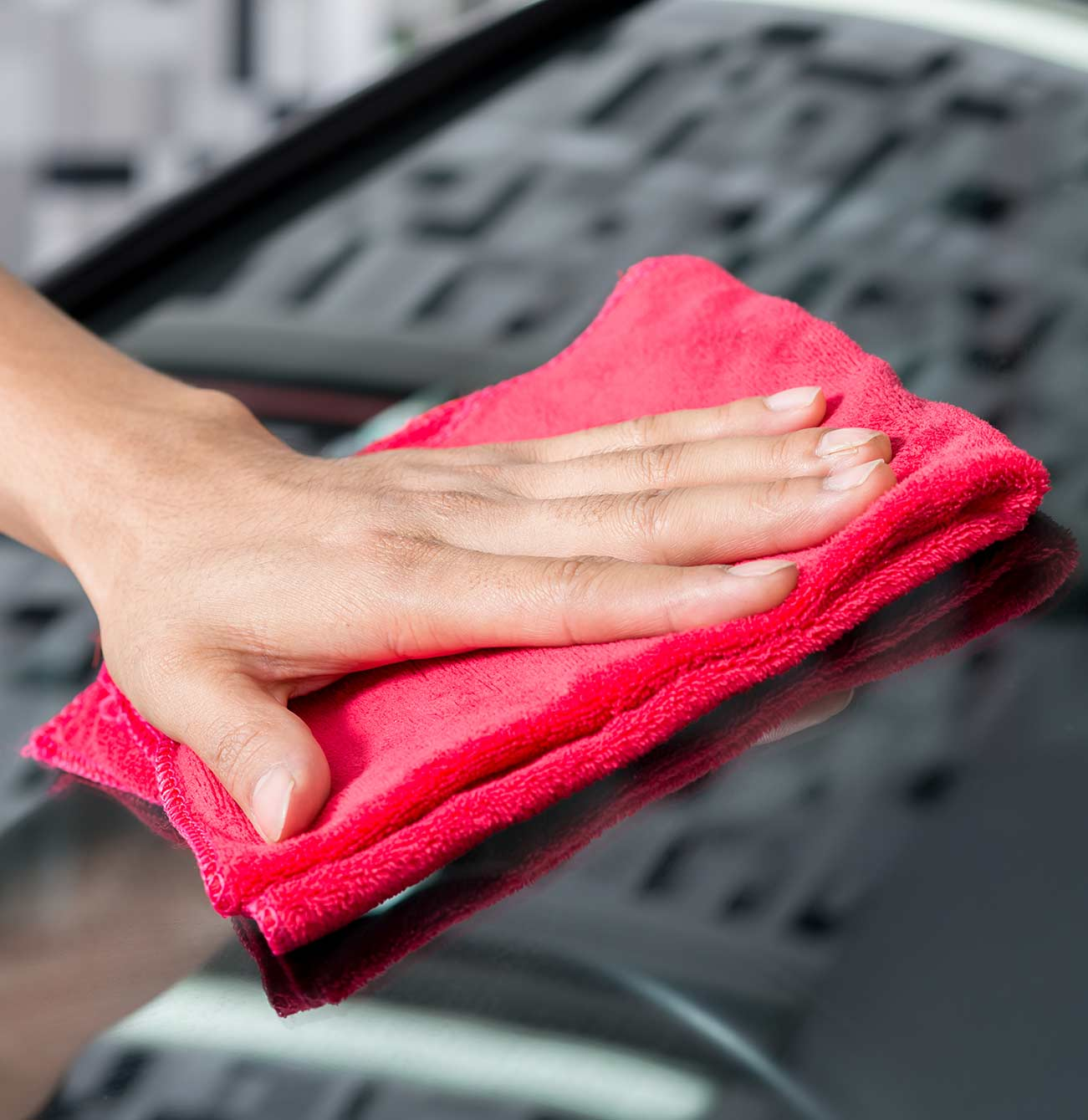 Wiping with Taylor Auto Glass