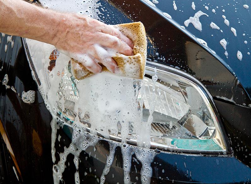 car maintenance Washing a car