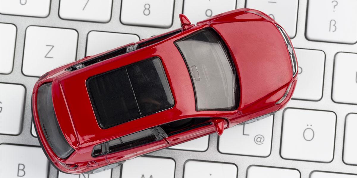 car on a keyboard