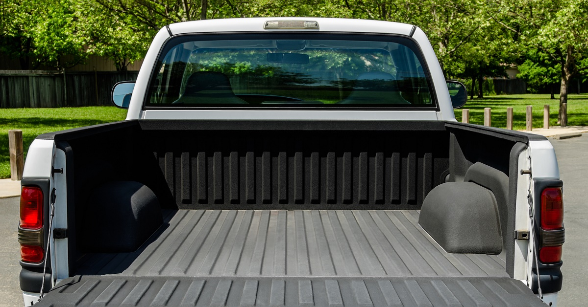 clean truck bed